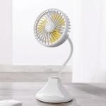 WT-D8 2000mAh 360 Degree Rotation Mini Portable Light Fan with 3 Speed Control& Phone / Pen Holder (White)