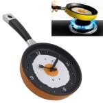 Fried Egg Pan Shape Creative Living Room Decorative Wall Clock (Orange)