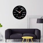 Creative Acrylic Living Room Decorative Mathematical Formula Wall Clock