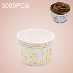3000 PCS Flower Pattern Round Lamination Cake Cup Muffin Cases Chocolate Cupcake Liner Baking Cup, Size: 5 x 3.8  x 3cm (Yellow)