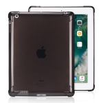 Highly Transparent TPU Full Thicken Corners Shockproof Protective Case for iPad 4 / 3 / 2 (Black)