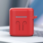 Wireless Earphones Charging Box Silicone Protective Case for Huawei Honor FlyPods / FreeBuds 2 (Red)