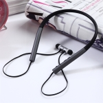 BT-790 Bluetooth 4.2 Hanging Neck Design Bluetooth Headset, Support Music Play & Switching & Volume Control & Answer (Black)
