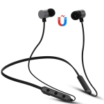 BT-900 Bluetooth 4.2 Hanging Neck Design Bluetooth Headset, Support Music Play & Switching & Volume Control & Answer (Black)