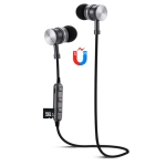 F3 Bluetooth 4.2 Hanging Neck Design Bluetooth Headset, Support Music Play & Switching & Volume Control & Answer (Black)