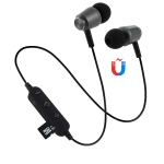 F15 Bluetooth 4.2 Hanging Neck Design Bluetooth Headset, Support Music Play & Switching & Volume Control & Answer (Black)