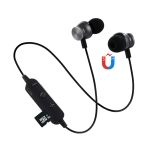 F17 Bluetooth 4.2 Hanging Neck Design Bluetooth Headset, Support Music Play & Switching & Volume Control & Answer (Black)