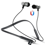 F106 Bluetooth 4.2 Hanging Neck Design Bluetooth Headset, Support Music Play & Switching & Volume Control & Answer (Black)