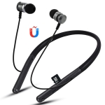 F108 Bluetooth 4.2 Hanging Neck Design Bluetooth Headset, Support Music Play & Switching & Volume Control & Answer (Black)