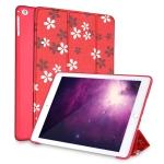 Sakura Pattern Horizontal Flip PU Leather Case for iPad 9.7 (2018) & (2017) / Air 2 / Air, with Three-folding Holder & Honeycomb TPU Cover