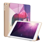 Elephant Pattern Horizontal Flip PU Leather Case for iPad 9.7 (2018) & (2017) / Air 2 / Air, with Three-folding Holder & Honeycomb TPU Cover