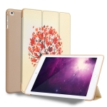 Maple Pattern Horizontal Flip PU Leather Case for iPad 9.7 (2018) & (2017) / Air 2 / Air, with Three-folding Holder & Honeycomb TPU Cover
