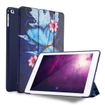 Butterflies Pattern Horizontal Flip PU Leather Case for iPad 9.7 (2018) & (2017) / Air 2 / Air, with Three-folding Holder & Honeycomb TPU Cover