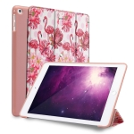 Flamingo Pattern Horizontal Flip PU Leather Case for iPad 9.7 (2018) & (2017) / Air 2 / Air, with Three-folding Holder & Honeycomb TPU Cover