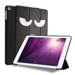 Angry Expression Pattern Horizontal Flip PU Leather Case for iPad 9.7 (2018) & (2017) / Air 2 / Air, with Three-folding Holder & Honeycomb TPU Cover