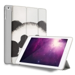 Panda Pattern Horizontal Flip PU Leather Case for iPad 9.7 (2018) & (2017) / Air 2 / Air, with Three-folding Holder & Honeycomb TPU Cover