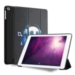 Music Panda Pattern Horizontal Flip PU Leather Case for iPad 9.7 (2018) & (2017) / Air 2 / Air, with Three-folding Holder & Honeycomb TPU Cover