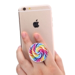 Multi-Function Colorful Pattern Universal Phone Holder Expanding Stand Grip Clamp Rope Stand for Smartphones