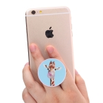 Multi-Function Giraffe Pattern Universal Phone Holder Expanding Stand Grip Clamp Rope Stand for Smartphones