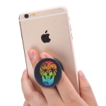 Multi-Function Skull Coconut Tree Pattern Universal Phone Holder Expanding Stand Grip Clamp Rope Stand for Smartphones