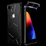 R-JUST Magnet Adsorption Metal Polished Texture Phone Case for iPhone 7P/8P (Black)