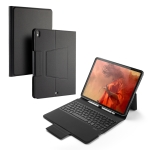 Colored Backlight Bluetooth Keyboard with Leather Flip Case for iPad Pro 12.9 (2018)(Black)