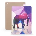 Elephant Pattern Horizontal Flip PU Leather Case for iPad Mini 2019, with Three-folding Holder & Honeycomb TPU Cover