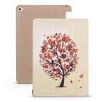 Maple Pattern Horizontal Flip PU Leather Case for iPad Mini 2019, with Three-folding Holder & Honeycomb TPU Cover
