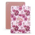 Flamingo Pattern Horizontal Flip PU Leather Case for iPad Mini 2019, with Three-folding Holder & Honeycomb TPU Cover