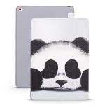 Panda Pattern Horizontal Flip PU Leather Case for iPad Mini 2019, with Three-folding Holder & Honeycomb TPU Cover