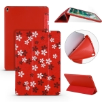 Sakura Pattern Horizontal Flip PU Leather Case for iPad Air 2019 / Pro 10.5 inch, with Three-folding Holder & Honeycomb TPU Cover