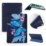 Butterflies  Pattern Horizontal Flip PU Leather Case for iPad Air 2019 / Pro 10.5 inch, with Three-folding Holder & Honeycomb TPU Cover