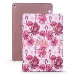 Flamingo Pattern Horizontal Flip PU Leather Case for iPad Air 2019 / Pro 10.5 inch, with Three-folding Holder & Honeycomb TPU Cover