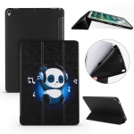Music Panda Pattern Horizontal Flip PU Leather Case for iPad Air 2019 / Pro 10.5 inch, with Three-folding Holder & Honeycomb TPU Cover
