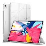 ESR Marble Series PC + PU Leather Case for iPad Air 2019 10.5 inch, with Three-folding & Sleep / Wake-up Function (White)