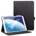 ESR Simplicity Series PC + PU Leather Case for iPad Air 2019 10.5 inch, with Holder & Sleep / Wake-up Function(Black)