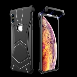 R-JUST Magnet Adsorption Metal Polished Texture Phone Case for iPhone X MAX (Black)