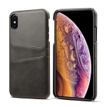 Suteni Calf Texture Protective Case for iPhone XS Max, with Card Slots (Black)