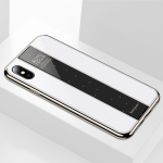 Electroplated Mirror Glass Case for iPhone XS Max (White)