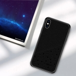 PINWUYO Full Coverage Waterproof Shockproof PC+TPU+PU Case for iPhone XS Max (Black)