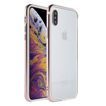 SULADA Shockproof TPU + Aluminum Alloy Frame Case for iPhone XS Max (Pink)