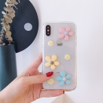 Shockproof Epoxy Daisy Pattern Soft TPU Case for iPhone XS Max