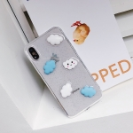 Shockproof Epoxy Cloud Pattern Soft TPU Case for iPhone XS Max