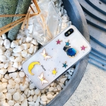 Shockproof Epoxy Moon Planet Pattern Soft TPU Case for iPhone XS Max (White)