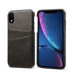 Suteni Calf Texture Protective Case for iPhone XR, with Card Slots (Black)