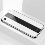 Electroplated Mirror Glass Case for iPhone XR (White)