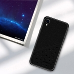 PINWUYO Full Coverage Waterproof Shockproof PC+TPU+PU Case for iPhone XR (Black)