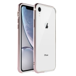 SULADA Shockproof TPU + Aluminum Alloy Frame Case for iPhone XR (Pink)
