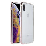 SULADA Shockproof TPU + Aluminum Alloy Frame Case for iPhone XS / X (Pink)