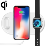 FLOVEME Qi Standard 10W Quick Wireless Charger for iPhone, Galaxy, Xiaomi, Google, LG, Apple Watch, AirPods and other QI Standard Smart Phones (White)
